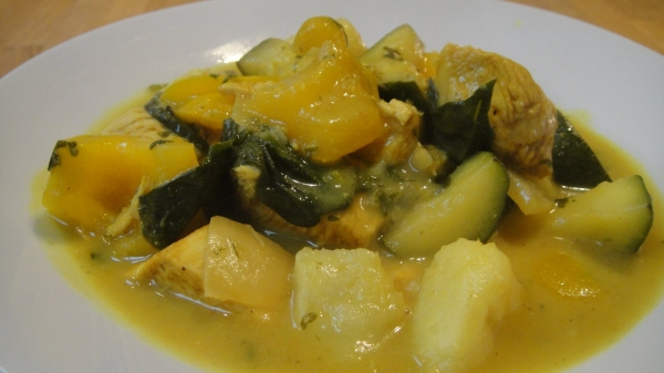 Paleo Coconut Chicken Stew-024