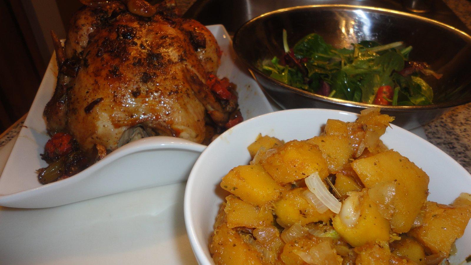 Ginger Garlic Roasted Chicken