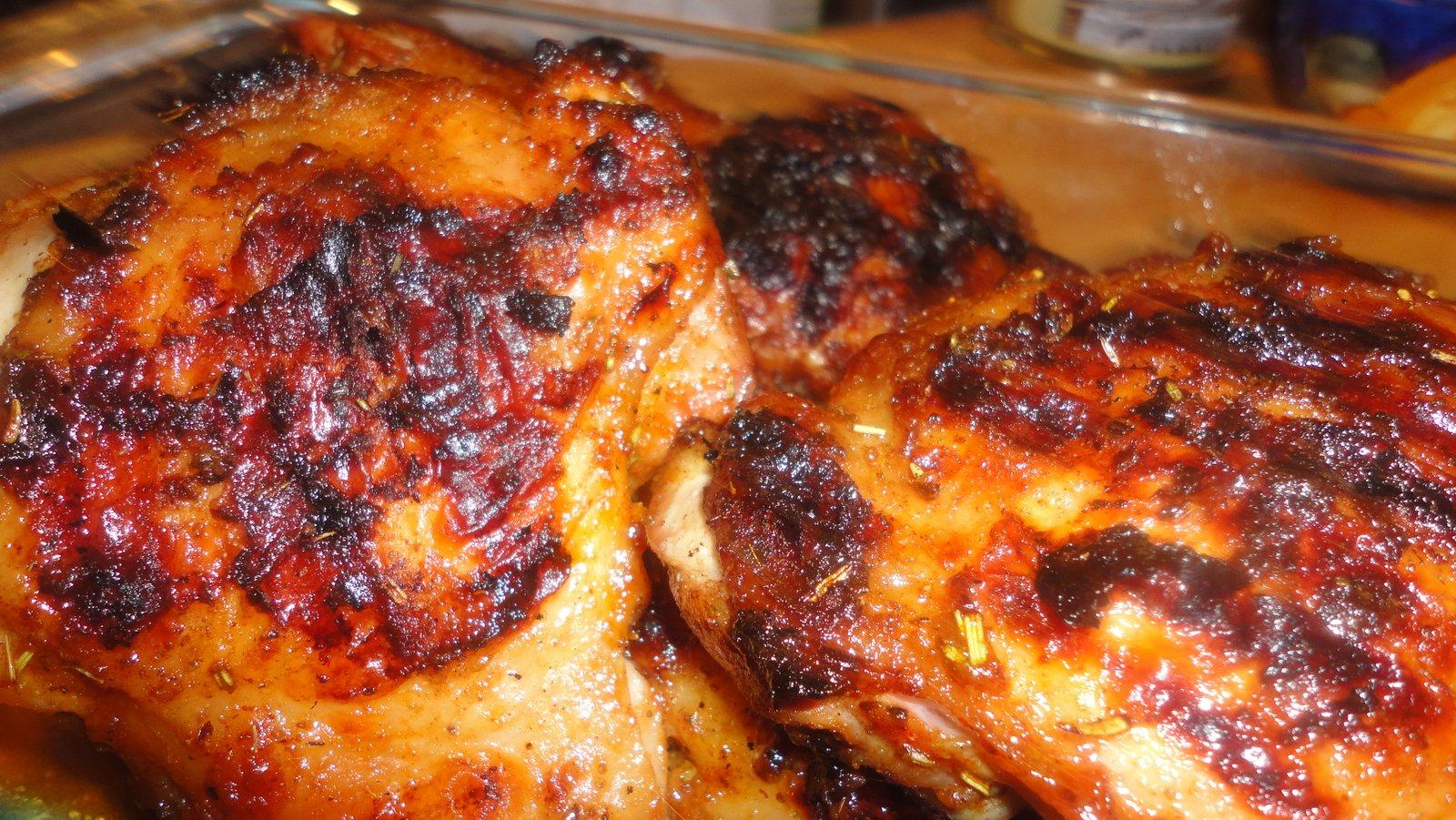 Paleo Maple Grilled Chicken Thighs