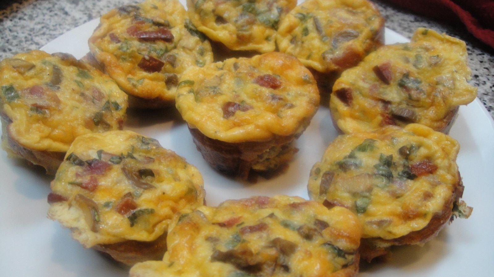 Recipe #94 | Mini Bacon Mushroom Quiche