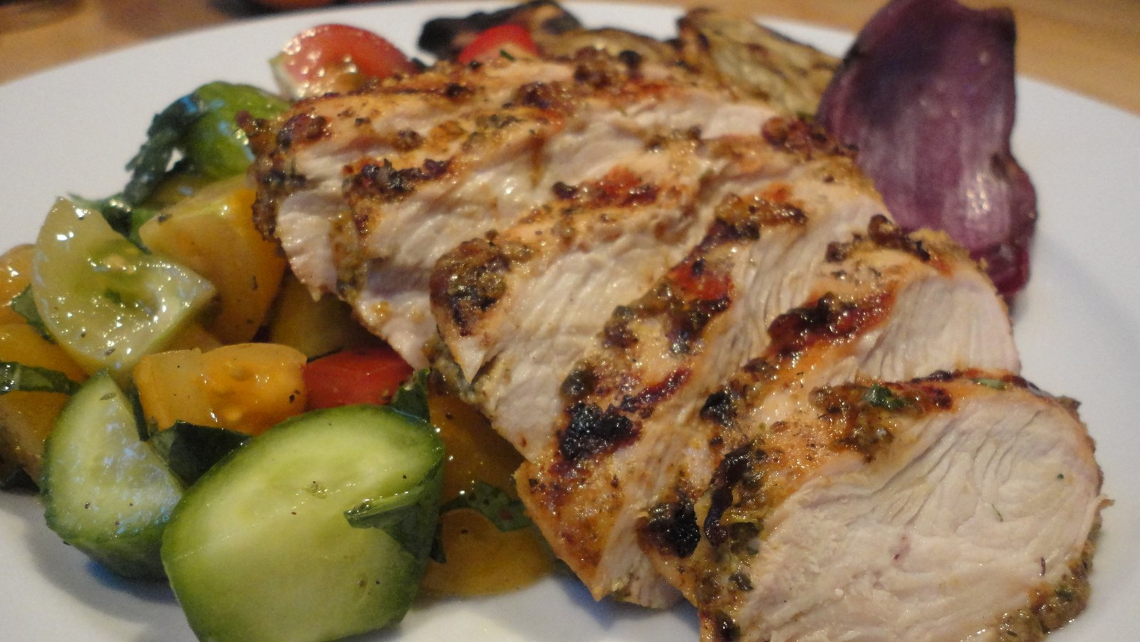 Recipe #59 | Sweet Basil and Macadamia Nut Grilled Chicken
