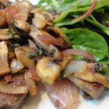 Recipe #68 | Grass Fed Beef Liver With Bacon, Onions, Mushrooms And Mint