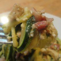 Recipe #64 | Zucchini Spaghetti Carbonara