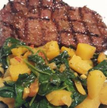 Recipe # 106 | Sauteed Rutabaga and Spinach